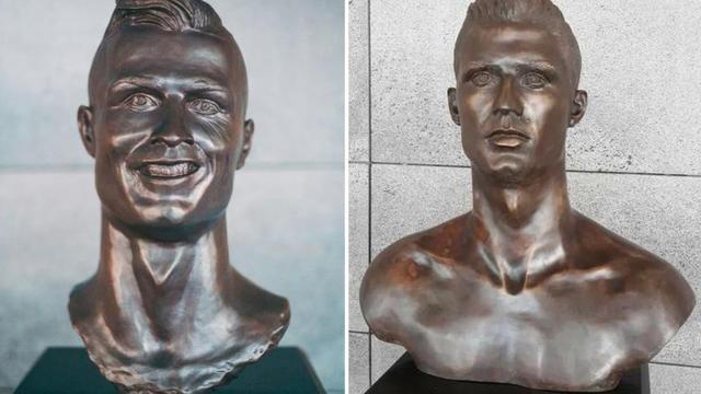L'ancien et le nouveau buste de Cristiano Ronaldo