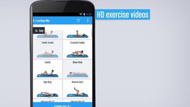 Différents exercices en 3D permettent de faire travailler ses abdominaux.