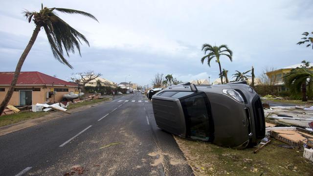 L'île de Saint-Martin était ravagée, jeudi 7 septembre, après le passage de l'ouragan Irma.