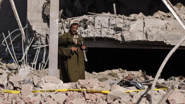 À Sanaa, la capitale du Yémen, de nombreux bâtiments ont été détruits par les raids aériens.