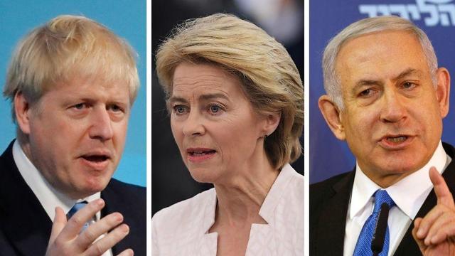 Boris Johnson (à gauche), Ursula von der Leyen (au centre) et Benjamin Netanyahou (à droite) feront l'actualité à la rentrée.