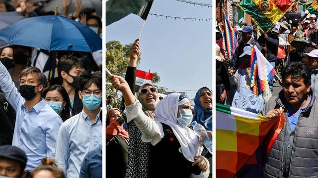 Hong Kong, l'Irak et la Bolivie font partie des nombreux pays du monde dans lesquels des tensions sociales ou politiques se font sentir.