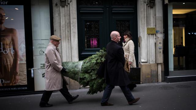 Paris derniers jours pour déposer son sapin de noël afin qu il