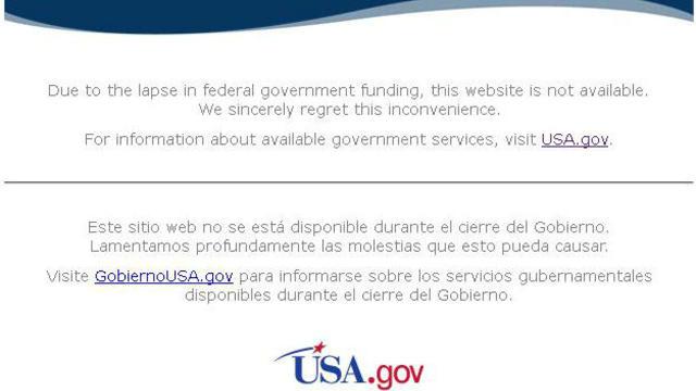 Le message du site de la Nasa.