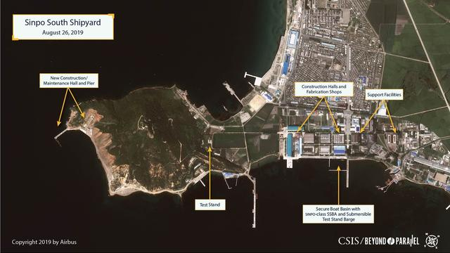 La photo satellite qui prouverait la construction du sous-marin