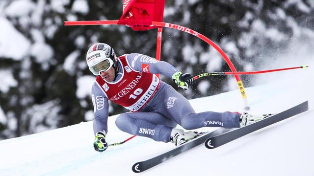 Adrien Théaux a décroché la médaille de bronze aux Mondiaux de 2015 à Beaver Creek.