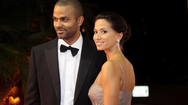 Tony Parker et Axelle Francine à la première édition du gala Monaco Par Coeur en septembre 2012.