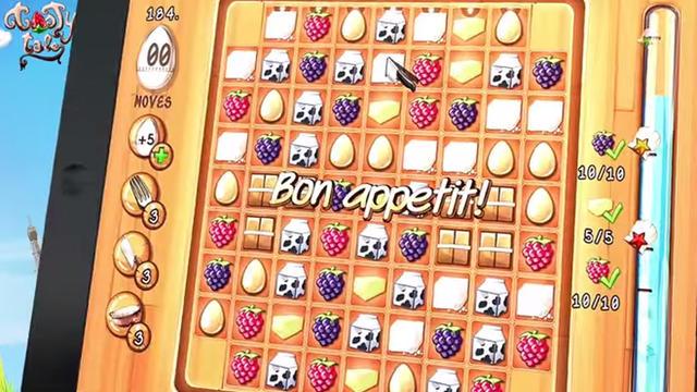 """Tasty Tale est un puzzle game de type """"match-3""""."""