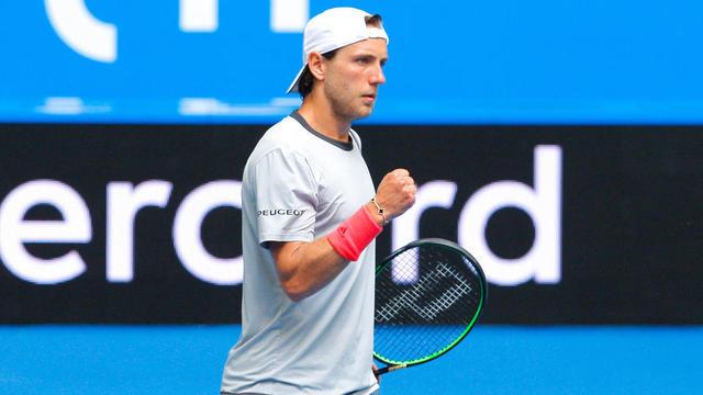 Lucas Pouille a remporté sa première rencontre à l'Open d'Australie.