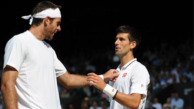 Juan Martin Del Potro n'a jamais battu Novak Djokovic en Grand Chelem.