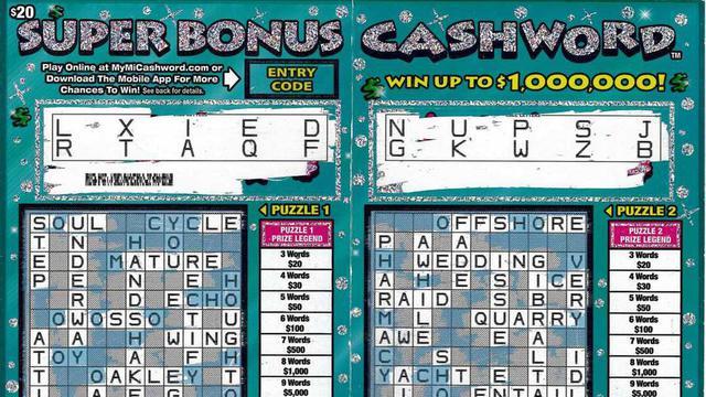 La gagnante a découvert dix bons mots dans la grille à gratter, soit le maximum.