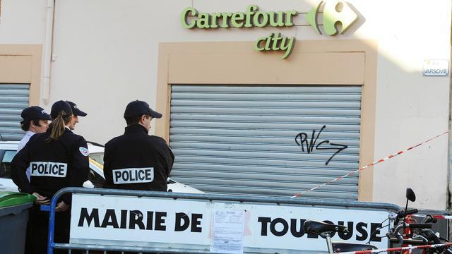 Les lieux du braquage à Toulouse.