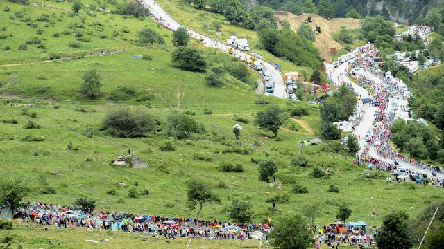 Le peloton devront gravir les 21 lacets de l'Alpe d'Huez pour rejoindre l'arrivée.