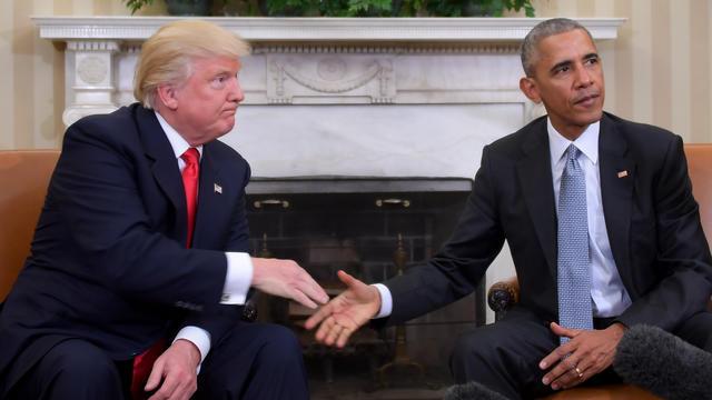Les deux présidents se sont rencontrés au lendemain de l'élection de Donald Trump.