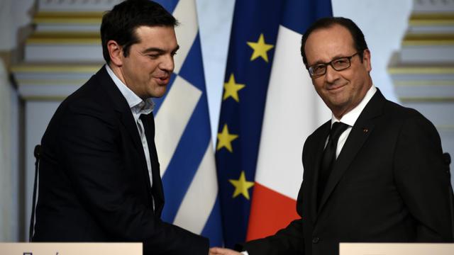 François Hollande est un des premiers chefs d'État invité depuis la réélection d'Alexis Tsipras