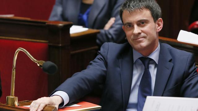 Le Premier ministre Manuel Valls à l'Assemblée Nationale.[PATRICK KOVARIK / AFP]