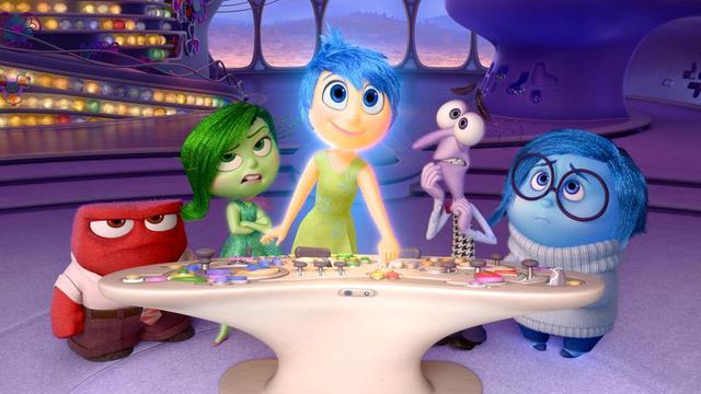 """Colère, Dégoût, Joie, Peur et Tristesse, les personnages du nouveau film Disney-Pixar """"Vice-versa""""."""