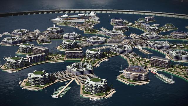 L'institut Seasteading prévoit d'inaugurer une première île d'ici à 2020 dans l'océan Pacifique (illustration).