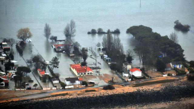 Les dégâts engendrés par la tempête Xynthia, en février 2010