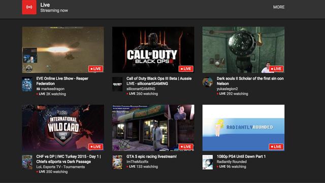 Une interface spéciale permet de sélectionner les jeux vidéo selon ses affinités.