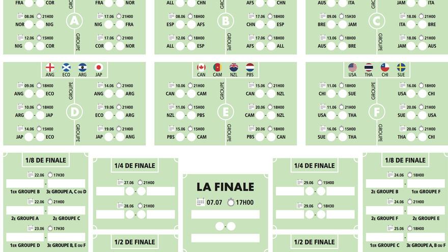 Coupe Du Monde De Football Calendrier.Calendrier Coupe Monde
