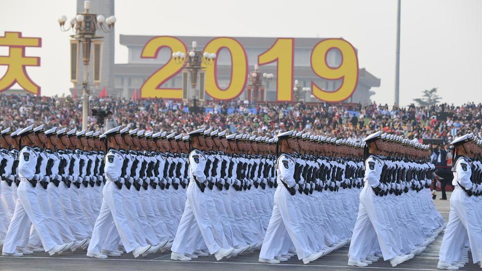Les troupes de l'armée chinoise, spécialistes des parades depuis de nombreuses années, étaient particulièrement attendues.