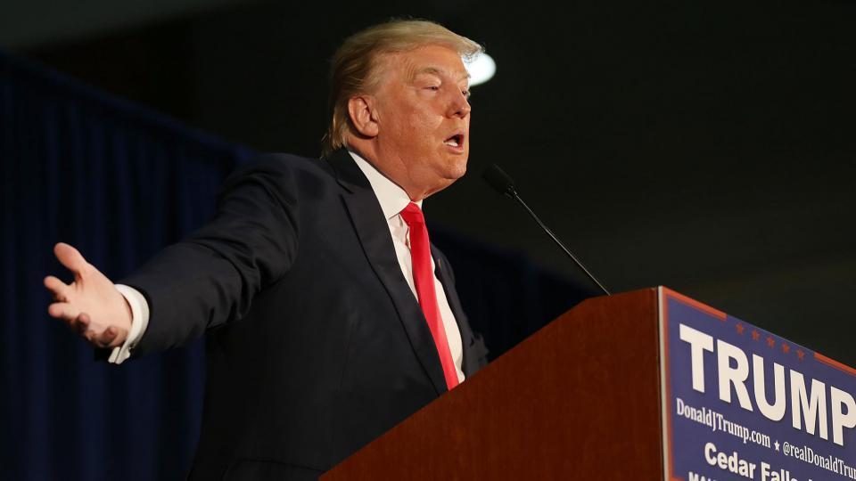 Donald Trump lors d'un meeting dans l'Iowa, le 12 janvier 2016.
