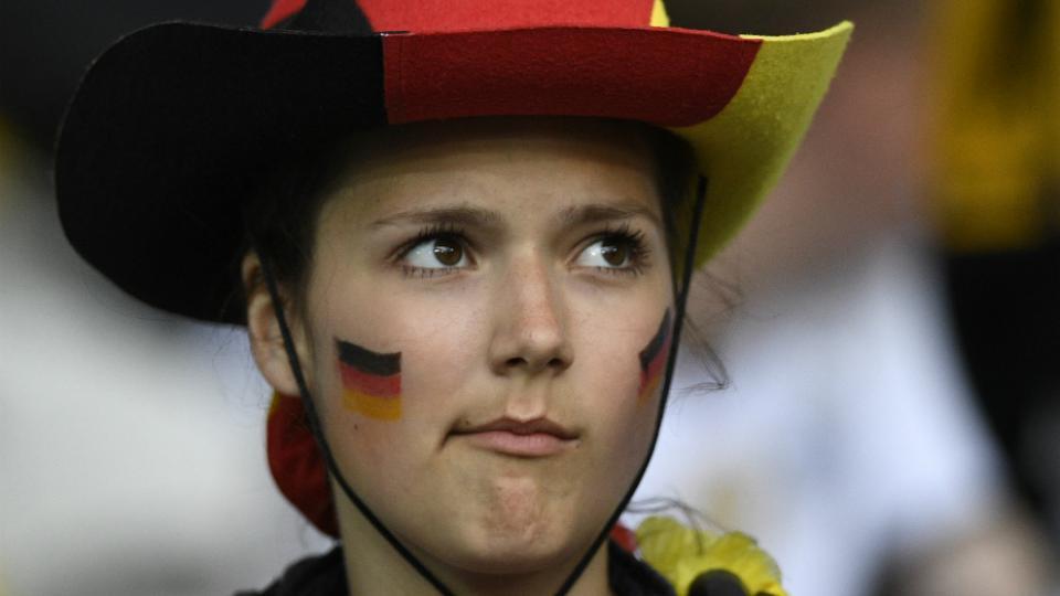 Une supportrice allemande lors du match Allemagne-Ukraine, le 12 juin 2016, à Lille.