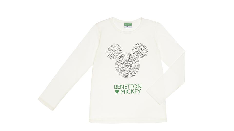 5057d4d00b [United Colors of Benetton X Mickey ] Benetton reprend, entre autres, le  célèbre logo de la petite souris, qu'elle décline en strass pour une touche  pop ...