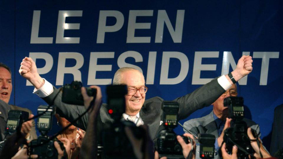 Jean-Marie Le Pen le 21 avril 2002.