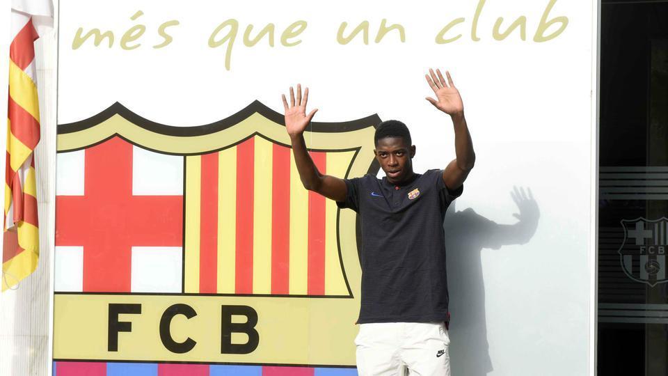 7. Ousmane Dembélé (105 millions d'euros + 40 millions de bonus au maximum) a rejoint le FC Barcelone à l'été 2017 en provenance du Borussia Dortmund.