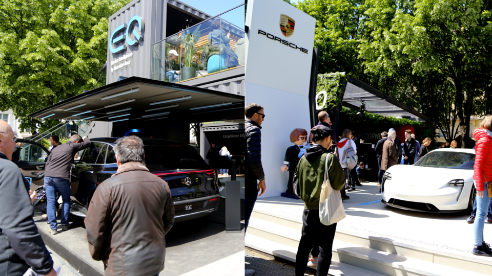 Un grand nombre de constructeurs automobiles sont venus faire la promotion de leurs modèle électrique lors du week-end, dans le but de convertir les amoureux de la course en éventuels acheteurs.