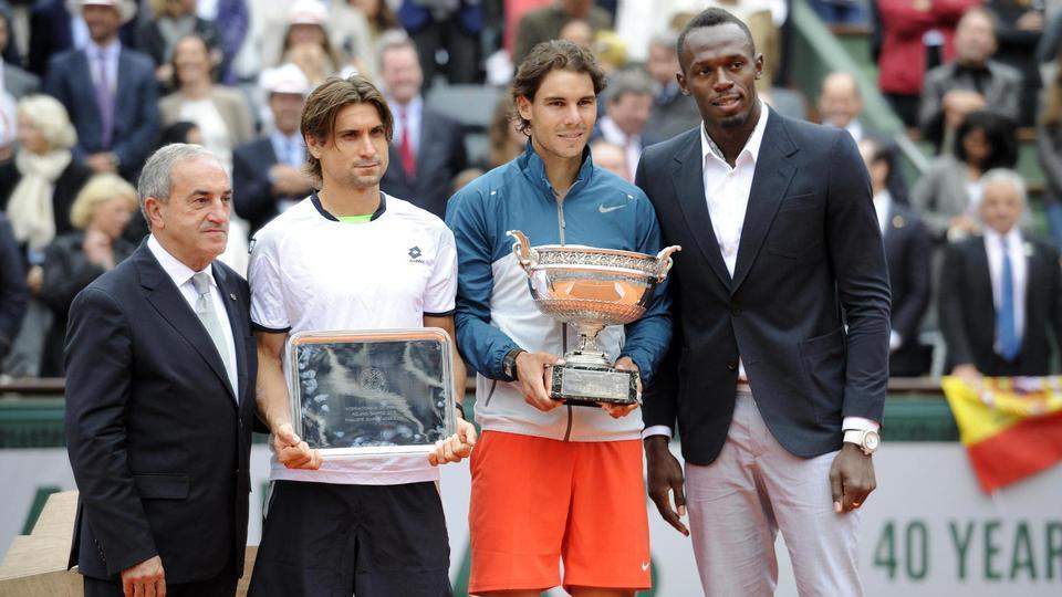 2013 : Dans son jardin à Roland-Garros, «Rafa» n'a aucune pitié avec son compatriote David Ferrer, qu'il domine sans difficulté en finale (6-3, 6-2, 6-3), pour devenir le premier joueur de l'histoire à remporter au moins 8 fois un tournoi du Grand Chelem.