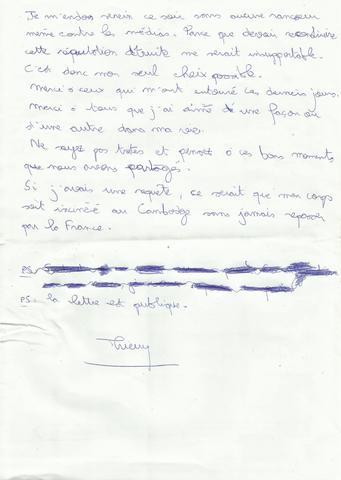 La lettre posthume crite par le m decin de koh lanta thierry costa avant son - Lettre de motivation koh lanta ...