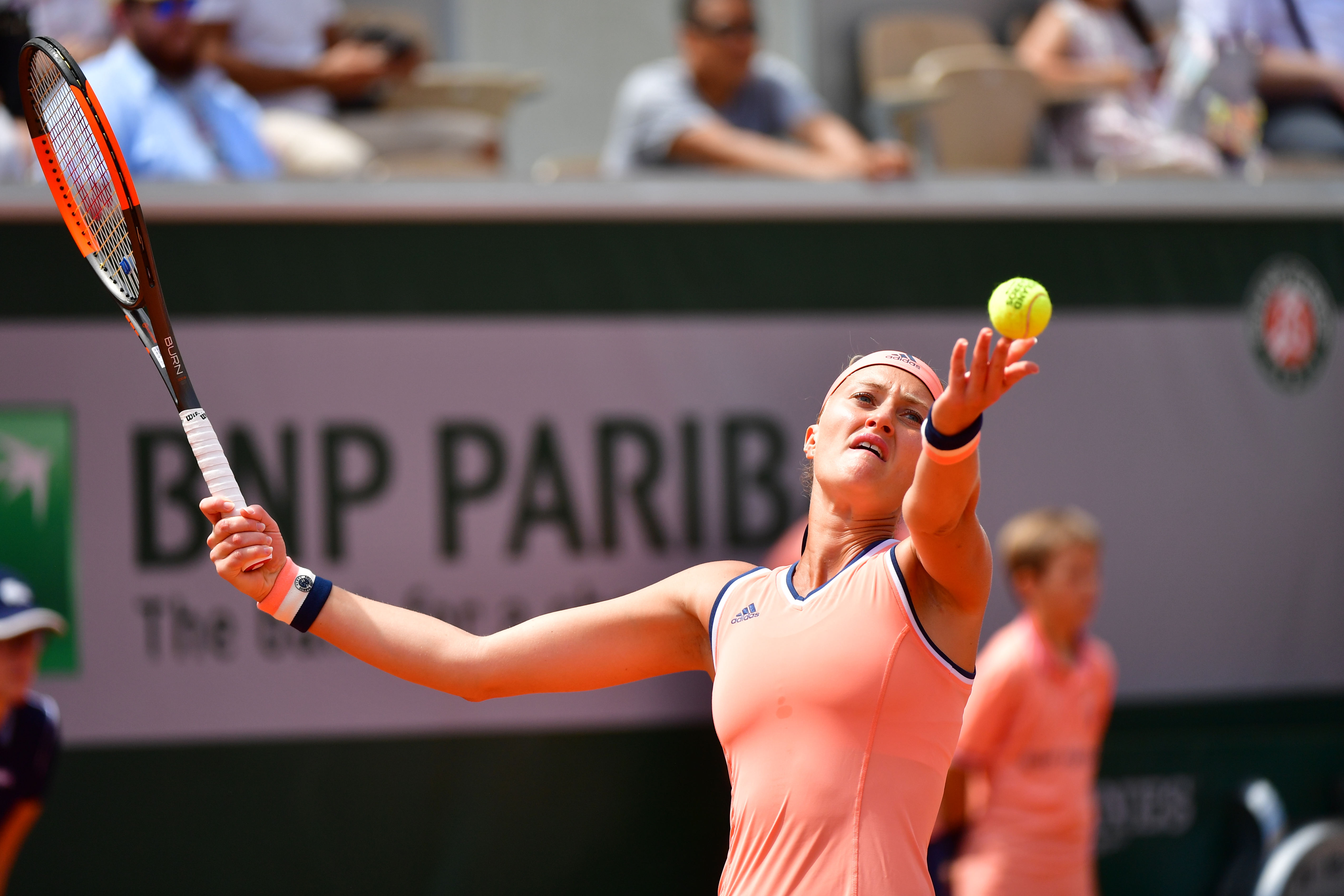 Roland Garros 2018 Kristina Mladenovic Prend La Porte