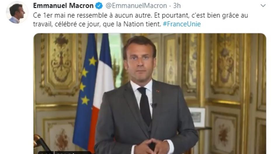 Ce 1er Mai Ne Ressemble A Aucun Autre Le Message D Emmanuel Macron Sur Twitter Cnews