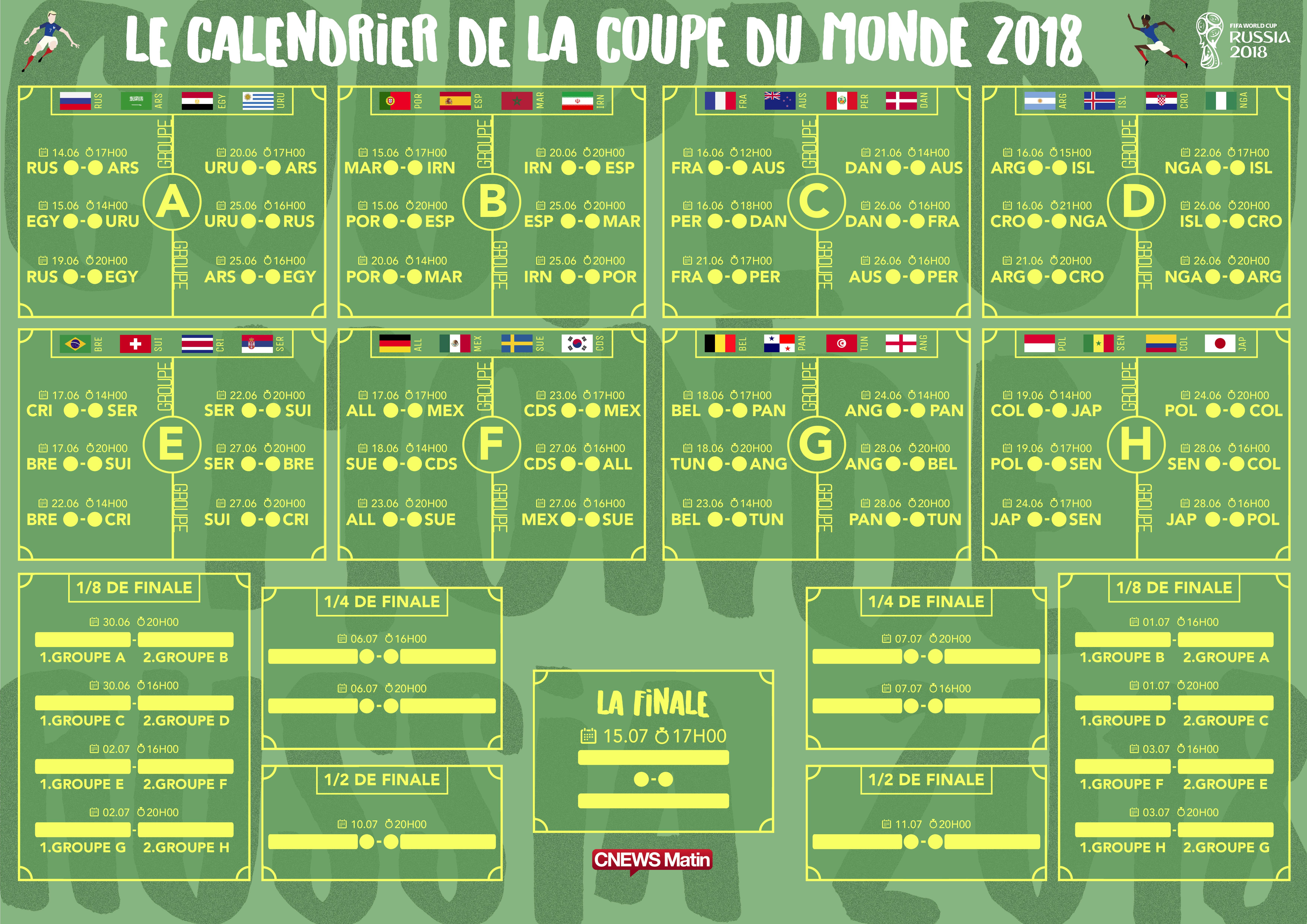 T l chargez le calendrier de la coupe du monde 2018 en pdf - Liste des coupes du monde ...